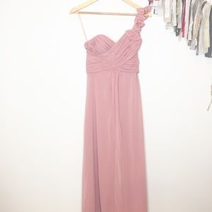 Allure Bridal chiffon formal gown pink mauve 4